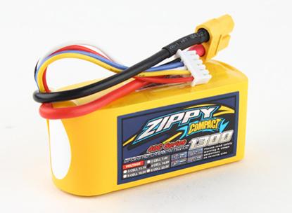 Picture of Baterie Li-Po ZIPPY Compact 1300mAh 4S1P 40C / 50C