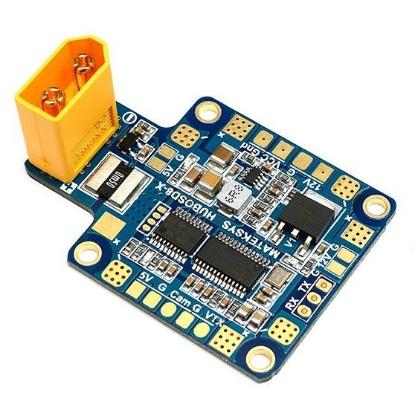 Picture of Matek Multi-rotor X-shape Power Distribution Board W/ 5V/ 12V outputs, Current Sensor, OSD (XT60 Connector) STOSD8